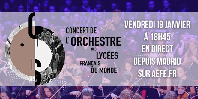 Orchestre des lycées français du monde Concert en direct depuis Madrid