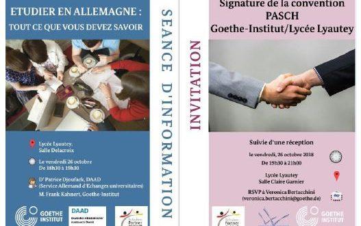 Intégration du Lycée Lyautey dans le réseau PASCH et Conférence sur l'orientation post-bac en Allemagne