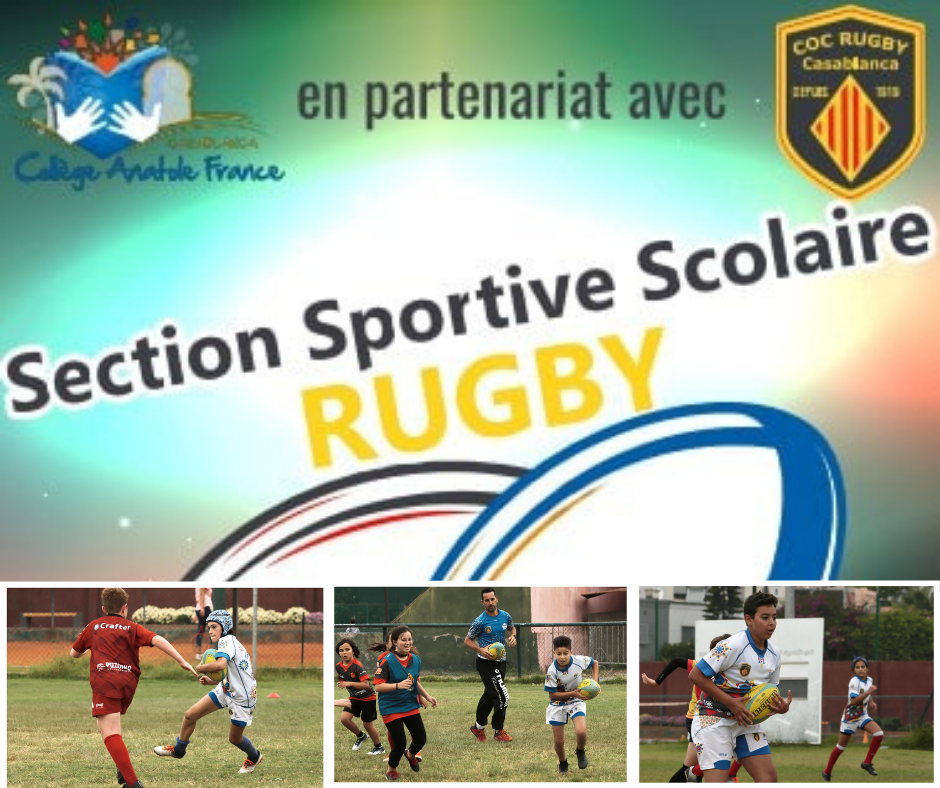 Section sportive scolaire RUGBY Anatole France casablanc