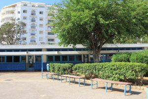 Lycée Lyautey, Casablanca Maroc, cour collège, mai 2021