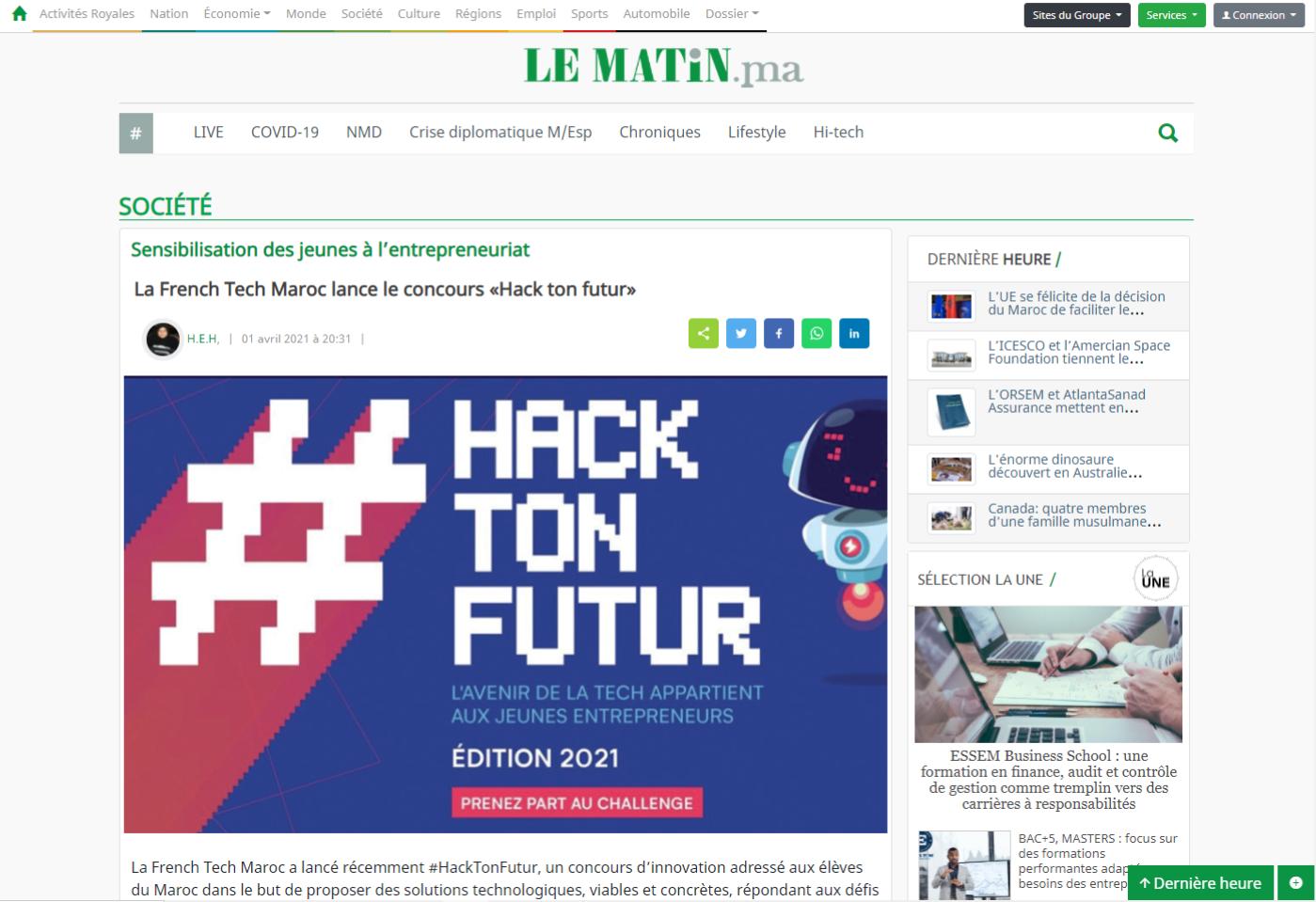 hack ton futur Le matin