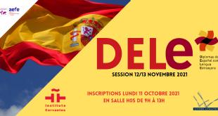 Diplôme d'Espagnol comme Langue Etrangère (D.E.L.E ) : rendez-vous le lundi 11 octobre pour les inscriptions !