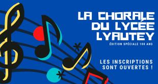 Inscriptions à la Chorale du Lycée Lyautey session 2021/2022